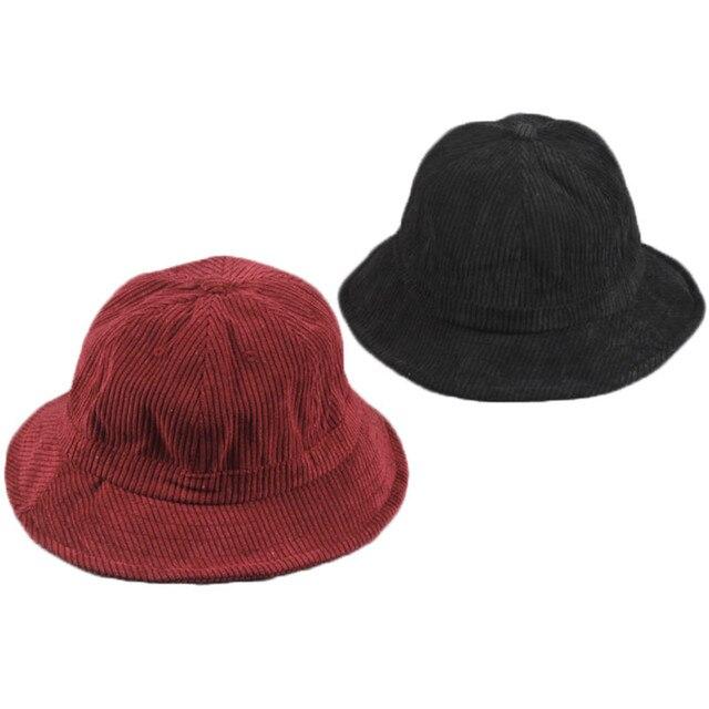 b5514363ac3 Children Solid Color Fisherman Hat Baby Boy Girl Fashion Velvet Cap Spring Bucket  Hat Travel Fisherman