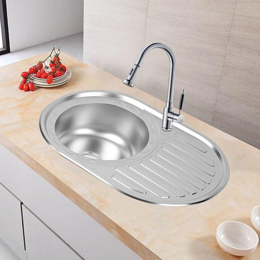 Nouveauté 77x50 cm évier en acier inoxydable de haute qualité Performance supérieure utile Design contemporain évier de cuisine