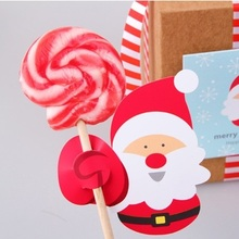 new 50pcs lollipop cover Santa Claus design children birthday wedding candy decorate holiday Christmas gift packaging