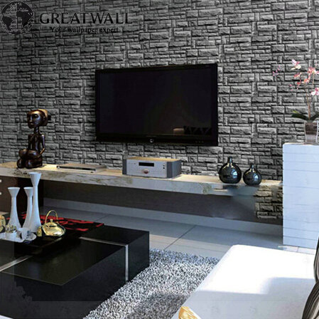 Great Wall 3d Pvc Vintage Brick Wallpaper For Living Room Bedroom Chinese Wall Papers 3d