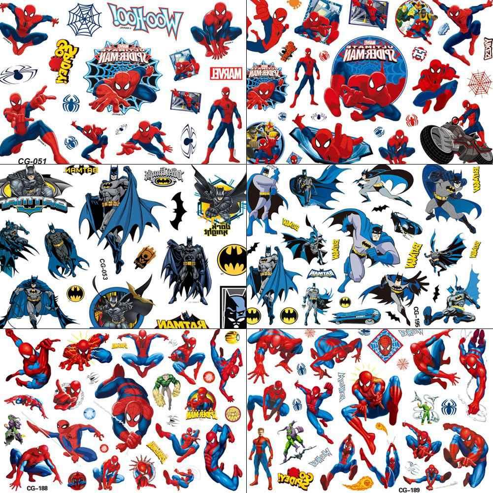 Comic movie for boys cartoon tattoo temporary spiderman