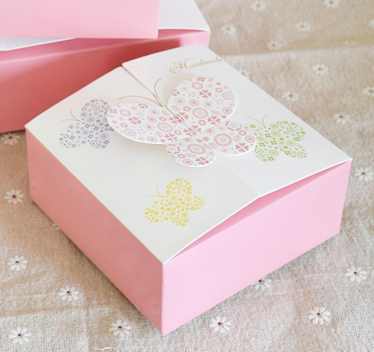 diy butterfly single cake box small gift boxes 11 4 11 4 5cm pink mini cake box baby shown. Black Bedroom Furniture Sets. Home Design Ideas
