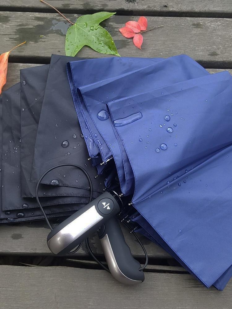 Ветрозащитный складной автоматический зонт от дождя для женщин, роскошный большой Ветрозащитный зонтик от дождя для мужчин с черным покрытием 10 к