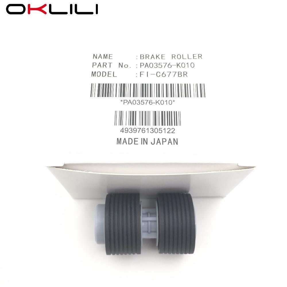 5PC PA03576 K010 PA03338 K010 Pickup Brake Roller for Fujitsu fi 6750 fi 6750S fi 6770