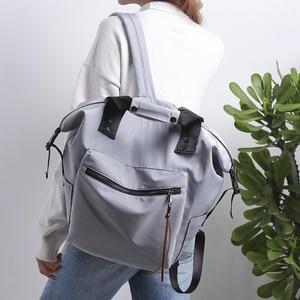 Image 4 - Nylon Backpack Women Casual Backpacks Ladies Large Capacity Rucksack School Bag Teenager Girls Travel Students Shoulder Bags