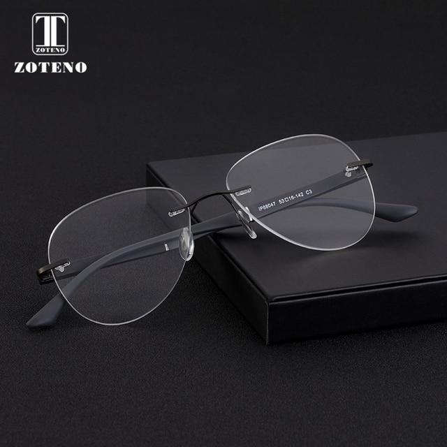 רטרו המשקפיים ללא שפה מסגרת מותג מעצב בציר קוצר ראייה מחשב ברור מרשם אופטי משקפי מסגרות לגברים #88047