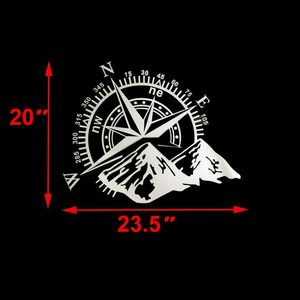 Image 5 - 50x60cm Compass Off Road Car Stickers and Decals Auto Engine Cover Door Window Car Vinyl Car Accessories 2 Colors