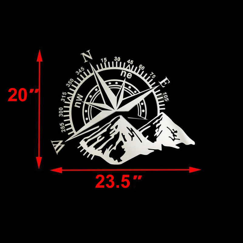 Image 5 - Car Stickers 50x60cm Compass Off Road Car Sticker and Decal Rose Navigate Vinyl Sticker Auto Laptop Car Door and Stickers Hood-in Car Stickers from Automobiles & Motorcycles