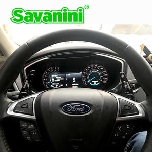 Рычаг переключения руля Savanini, алюминиевый расширитель рычага переключения передач для Ford Mondeo Edge Lincoln MKC MKZ MKX, автостайлинг