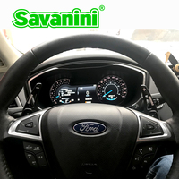 Savanini Patilhas Volante de Alumínio Extensão Shifter Para Ford Mondeo Borda Lincoln MKZ MKX MKC Auto car styling|alloy steering wheel|shift paddles|paddle shifters -