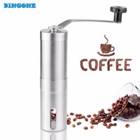 2016 Brand New Coffee Bean Grinder Silver Stainless Steel Hand Manual Handmade Coffee Grinder Home Kitchen