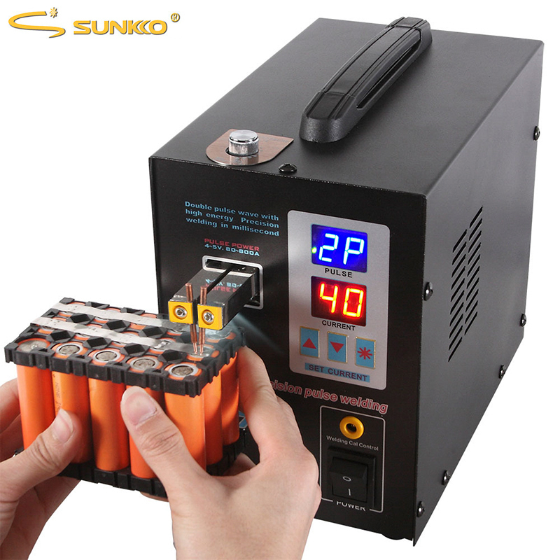 SUNKKO 737G soudeuse par points de batterie 1.5kw lumière LED Machine de soudage par points pour 18650 paquet de batterie soudeurs par points d'impulsion de précision de soudage