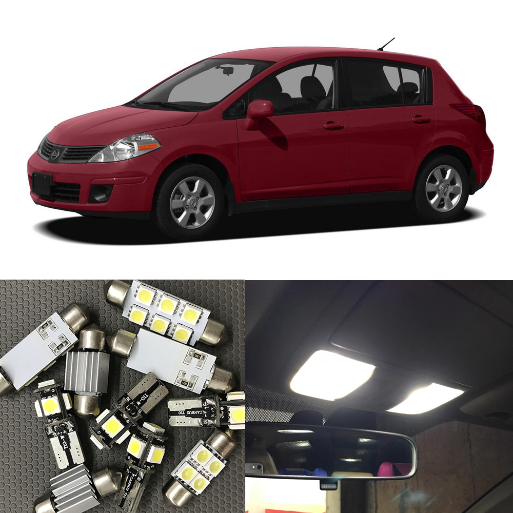 Versa plate promotion shop for promotional versa plate on 8pcs led light bulbs interior package kit for nissan versa 2007 2008 2009 2010 2011 2012 2013 map dome trunk license plate light vanachro Image collections