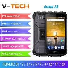 "Ulefone Armor 2 s impermeable IP68 teléfono móvil 5,0 ""FHD MTK6737T Quad Core Android 7,0 2 GB + 16 GB 4G versión Global teléfono resistente"