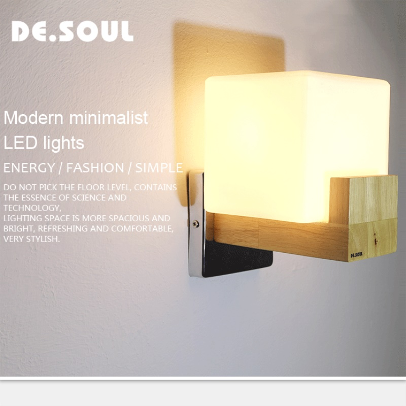 DE.SOUL Wall Lamp Bed Room Sconce Wall Lamps Indoor Modern Stairs Led Light Wall Mounted AC 90-260V