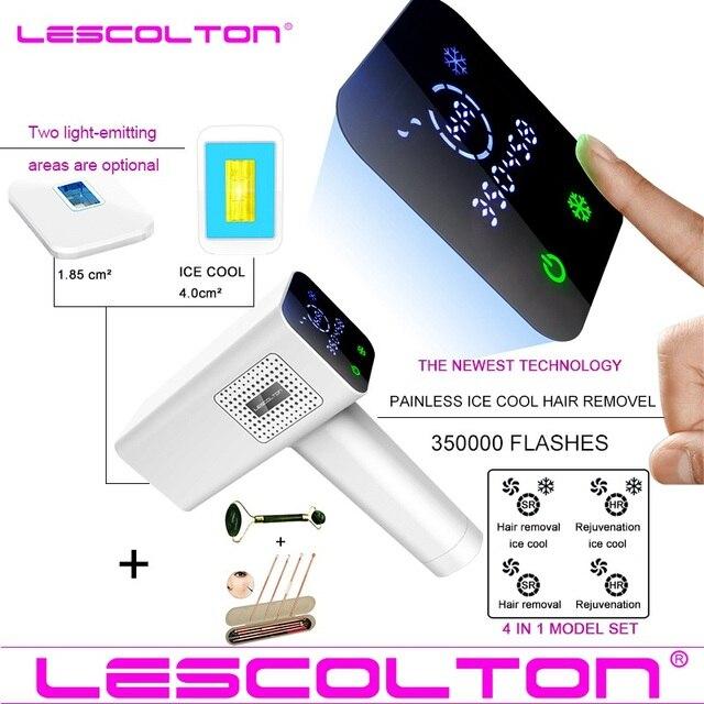 2020 ใหม่Lescolton 4in1 IPLเลเซอร์กำจัดขนเครื่องกำจัดขนกำจัดขนถาวรบิกินี่ไฟฟ้าdepiladorเลเซอร์