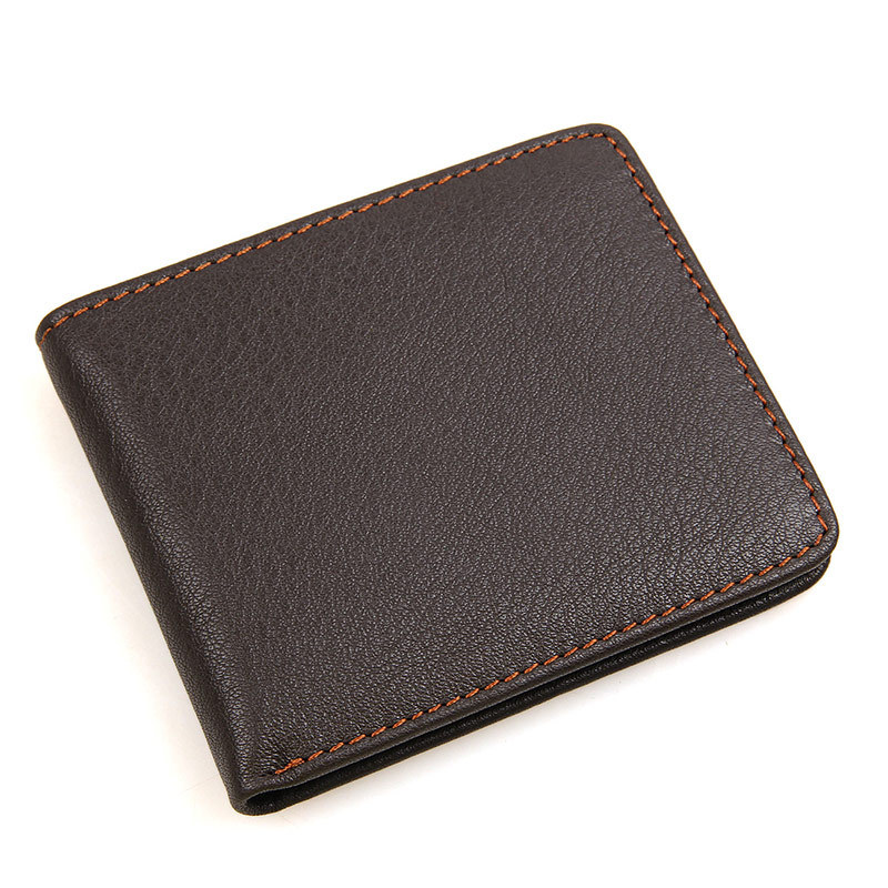 High Quality Men Wallets Genuine leather vintage Casual Design Men Purses SD And Sim Wallets business card holder Free Shipping hot selling 2017nipon jjuya high quality genuine leather zippy wallets with dust bag and box free shipping