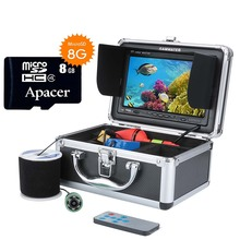 """GAMWATER """" видео рыболокатор HD CCD 1000TVL подводная рыболовная камера комплект с функцией записи видео 6 шт. 1 Вт белые светодиоды"""