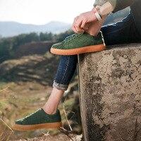 ESUDIAMON Summer Green Men Casual Shoes Spring Fashion Shoe Zapatillas Hombre Mens Shoes Footwear Vintage British