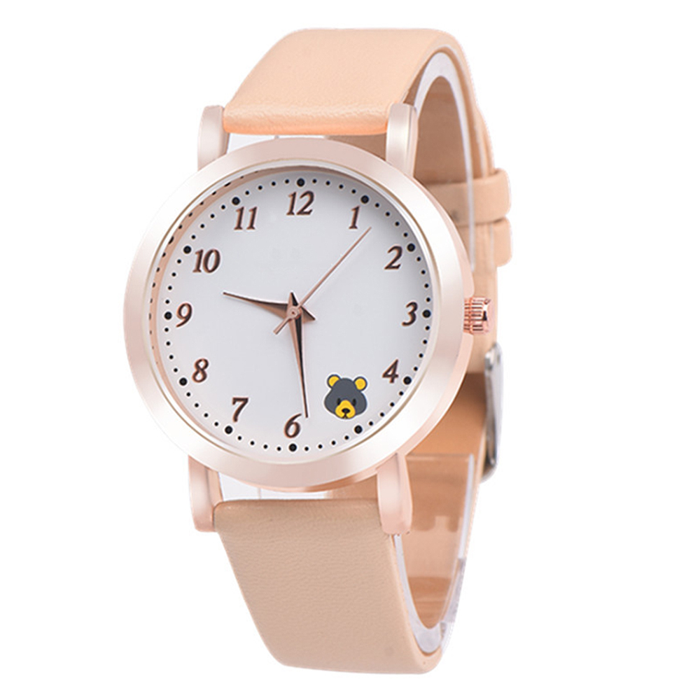 Casual Ladies Watches Quartz Wristwatch Fashion Cartoon Cat Leather Quartz Analog Women Watch 2