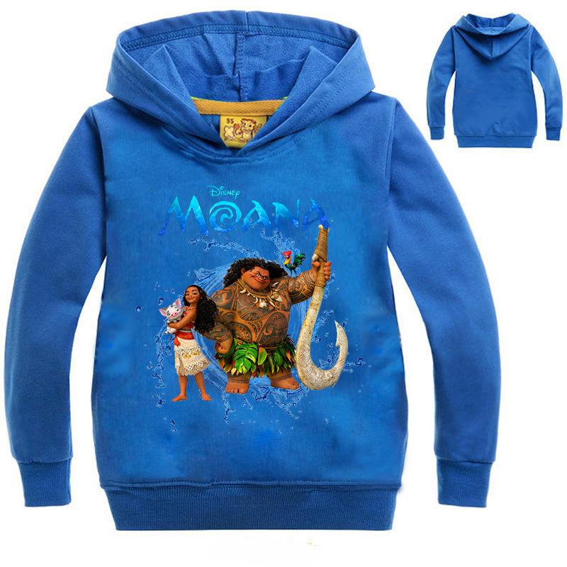 Tshirt kids MOANA clothes tee shirt enfant garcon Long Sleeve T-shirts Sweatshirt Hoodies Boys/Girls