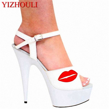The original single women's shoes Leisure beautiful white fish mouth sandals 15 cm high with super waterproof shoes
