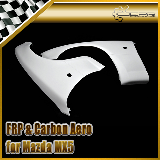 Car-styling FRP Fiber Glass Limited STO Style Front Fender (OEM Wide) For Mazda 1990-1997 MX5 Miata In Stock
