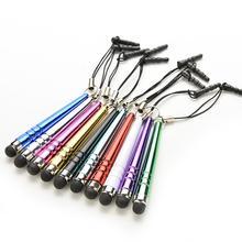 Универсальный Длинные емкостный Экран стилус Стилусы для смарт сотовые телефоны Планшеты ручки с пыли Вилки 10 шт.