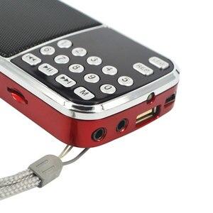 Image 5 - Kebidu المحمولة L 088 مايكرو SD TF FM راديو ايفي المتكلم مصغرة MP3 مشغل الصوت مصباح يدوي مكبر للصوت مصباح ليد جيب
