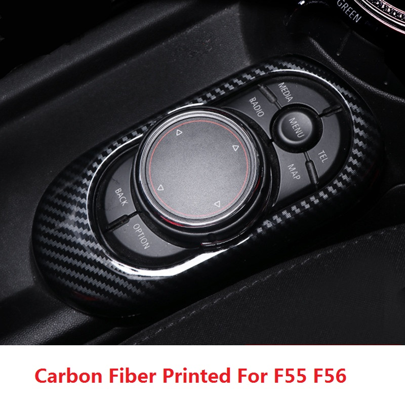 ABS Carbon Fiber Printed Car Gear Panel Sticker Window Control Panel Cover Case for Mini Cooper