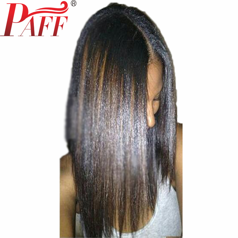 PAFF Bob Human Hair Wigs With Baby Hair Pre Plucked Highlight Short Lace Front Wigs Brazlian