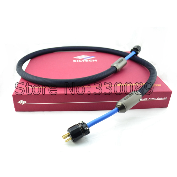 Free shipping Siltech RUBY MOUNTAIN II audiophile US/EU version power cord hifi power cable free shipping evolution power ii us ac ac power extension cord cable audio power cable for tube amp audiophile