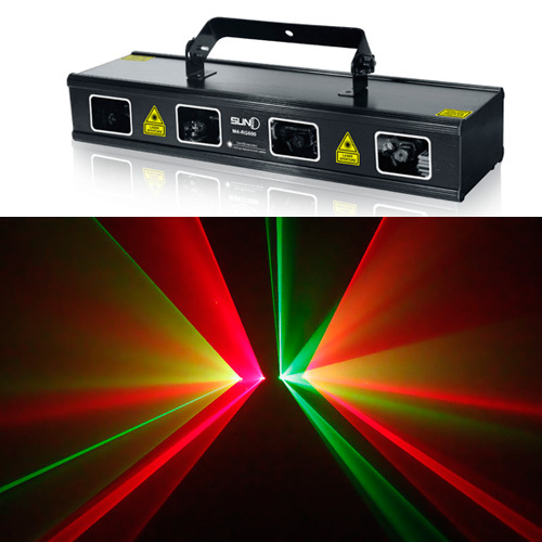 SUNY Professional Lens RG600mW M4 RG600 DMX Stage Laser Lighting Scan DJ Dance Home Party Full Color Flash Show Light Disco Xmas
