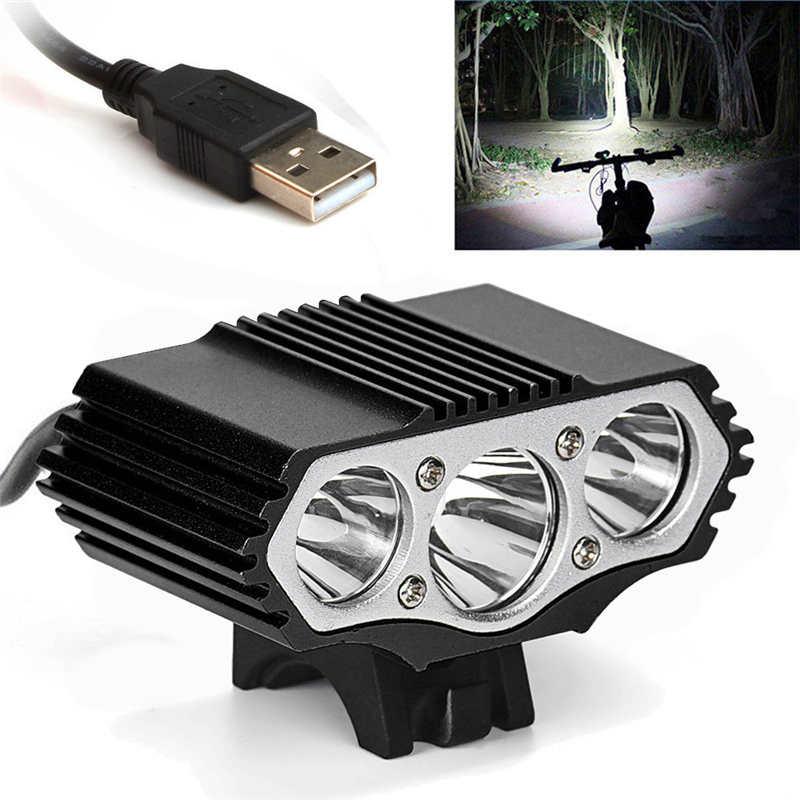 Lanterna levou t6 3 Modos de Bicicleta Da Lâmpada Da Bicicleta Luz Do Farol Ciclismo Tocha lanterna led recarregável USB fanático #4S11