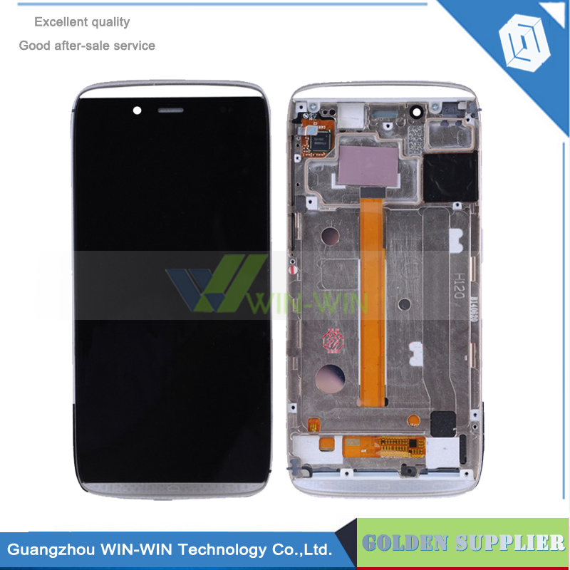 ФОТО 5pcs/lot LCD Display Screen For Alcatel One Touch Idol Alpha OT6032 6032 Digitizer Assembly with frame Free Shipping