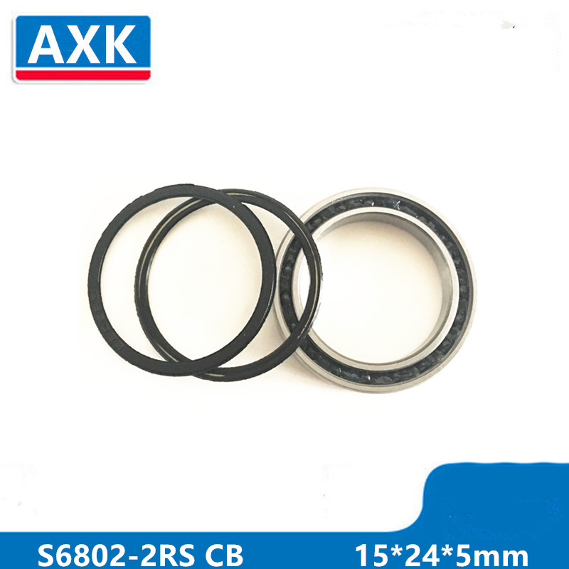 Free Shipping Hub <font><b>Bearing</b></font> Repair Parts Stainless Steel Ceramic <font><b>Bearing</b></font> Sc6802-2rs Deep Groove Ball <font><b>Bearing</b></font> <font><b>6802rs</b></font> 15*24*5mm image