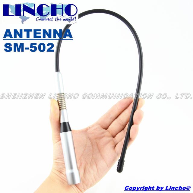 SM-502 vhf uhf antena de radio de coche, látigo de antena de banda dual móvil flexible, vhf/uhf vehical de radio de dos vías