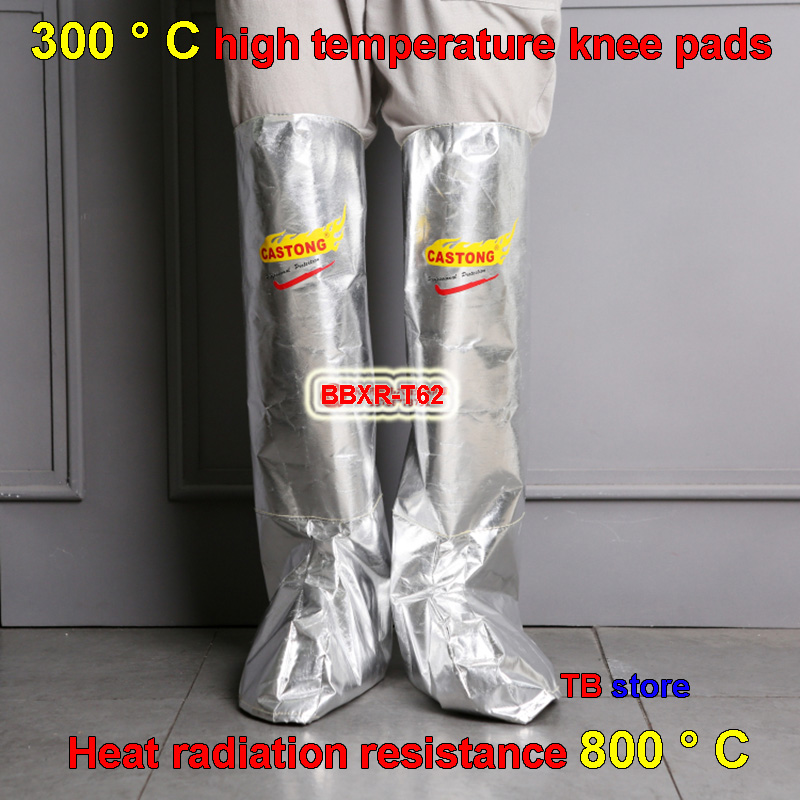300 degrees Aluminum foil Kneepad Shoe cover High temperature resistance Anti-scald Kneepad Safety shoe cover Foot protection replex kneepad flanchard cuish