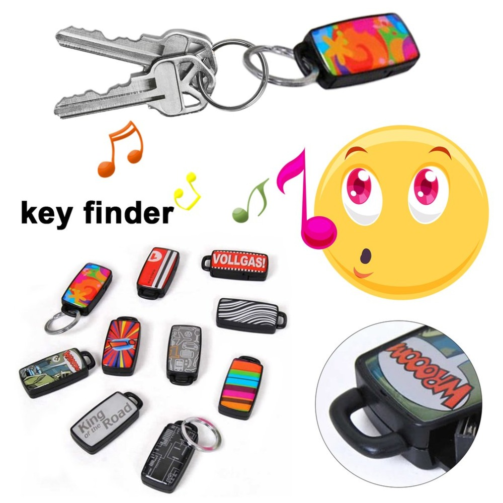 Stylish Whistle Key Finder Beeping Sound Alarm Portable Electric Keyfinder Locator with Keyring Anti-Lost Device f720 big sound key finder 2receiver wireless remote key finder locator keychain keyfinder electronic anti lost lost finder alarm