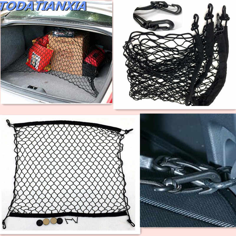 Car Trunk Net Luggage Storage Organizer Bag Auto Accessories for peugeot 2008 308 vw transporter t5 toyota harrier ford sticker