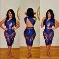 Summer women party elegant dress bodycon slim lace bandage vestidos prom club dresses backless