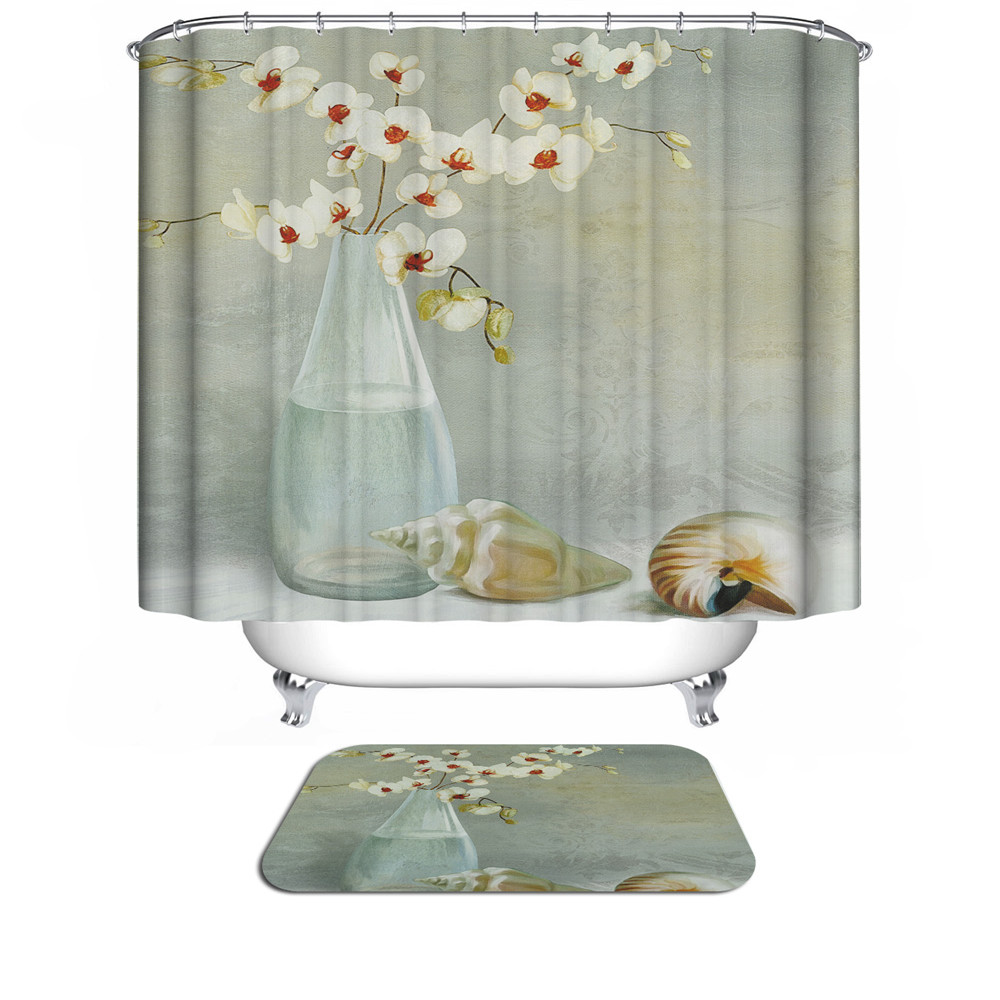 aliexpresscom buy new angel christmas shower curtain 3d modern design plant waterproof fabric bath curtains for bathroom curtain in the bathroom from