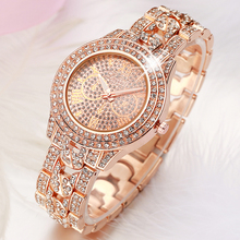 2017 Nouveau Femmes Strass Montres Lady Robe Femmes montre Diamant marque De Luxe Bracelet Montre-Bracelet dames En Cristal de Quartz Horloges