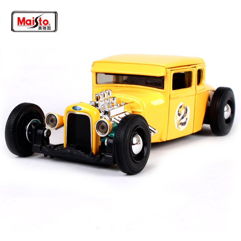 Maisto 1:24 1929 Ford Outlaws Modell En HOT ROD Diecast Modell Bil Toy Nya In Box Gratis Frakt 31354