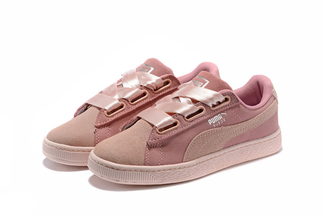 fe646f79ffdcc4 Rihanna X Puma Fenty Women s Bow Trinomic Sneakers Shoes Pink purple  Bow  Ties Badminton Shoes Size 36-39