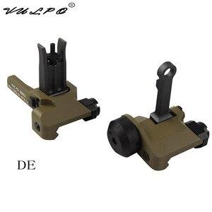 Image 4 - VULPO тактический стиль KAC 300 м откидной складной Железный прицел передний и задний прицел для страйкбола охоты
