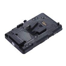 Andoer RL IS2 v mount v lock bricolage alimentation batterie plaque pour Sony BMCC BMPCC caméscope moniteur LED lumière vidéo