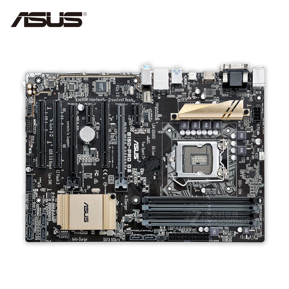 For B150-PRO D3 Original Used Desktop Motherboard For Intel B150 Socket LGA 1151 For i7 i5 i3 DDR3 64G SATA3 USB3.0 ATX