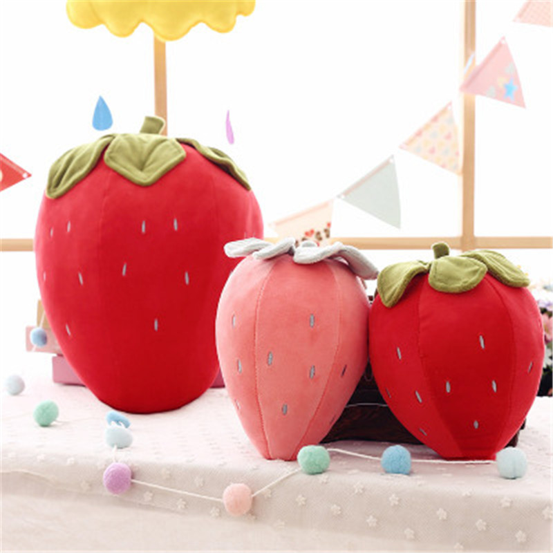 Creative Simulation Strawberry Fruit Plush Pillow Stuffed Plush Toys For Kids Girls Baby Funny Gift Sofa Seat Cushion New Sale