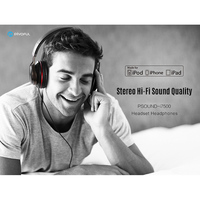 Newest Original HiFi Headphne Black Over Ear Headsets Wired Earphone With Microphone For Iphone 6 6s